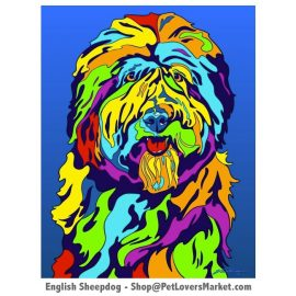 Sheepdog Painting: Sheepdog Pictures and Sheepdog Art.