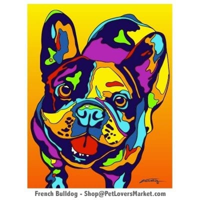 French Bulldog Art: French Bulldog Painting by Michael Vistia.