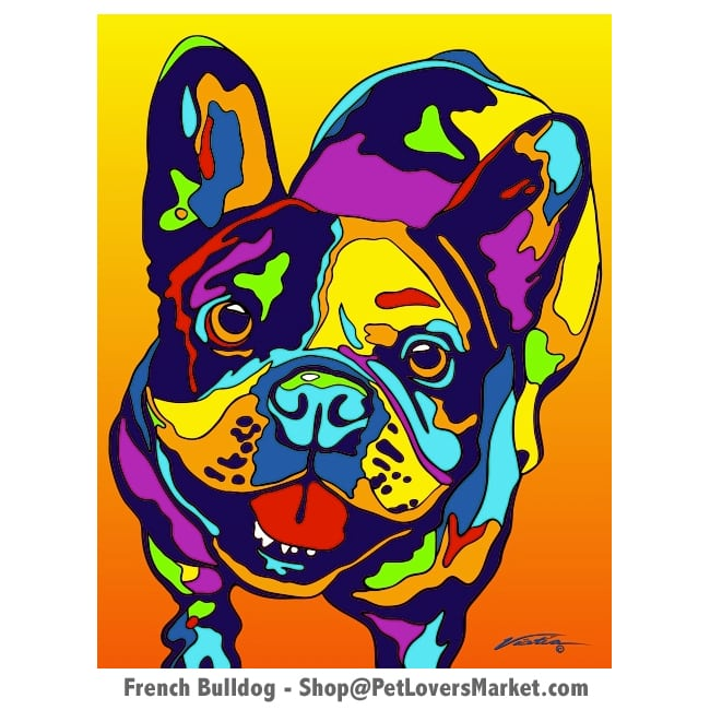French Bulldog Art: French Bulldog Painting by Michael Vistia.