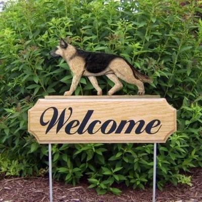 Welcome Garden Stake: German Shepherd Dog
