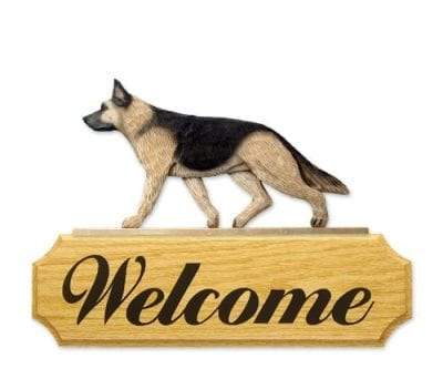 Dog Signs: German Shepherd Dog Welcome Sign