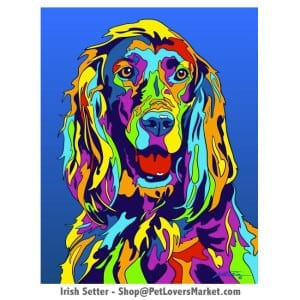 Irish Setter Pictures for Sale. Irish Setter art and dog painting by Michael Vistia.