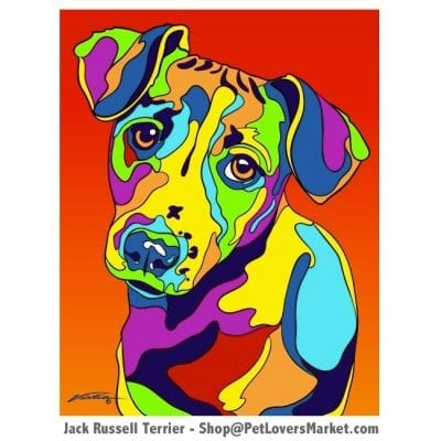 Jack Russell Pictures and Jack Russell Art for Sale. Jack Russell art and dog painting by Michael Vistia.
