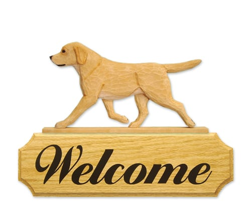 Dog Signs: Labrador Retriever Dog Welcome Sign