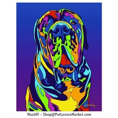Mastiff Pictures for Sale. Mastiff art and dog painting by Michael Vistia.