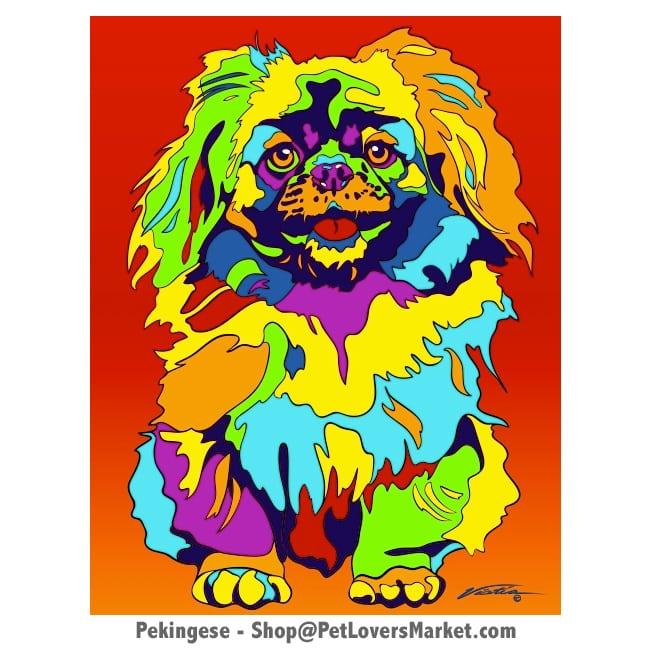 Pekingese Pictures: Pekingese Painting by Michael Vistia.