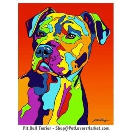 Pitbull Painting. Pitbull Art by Michael Vistia.