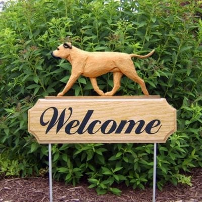 Welcome Sign & Garden Stake: Pit bull