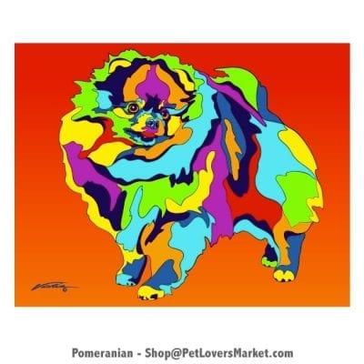 Pomeranian Painting. Pomeranian Art by Michael Vistia.