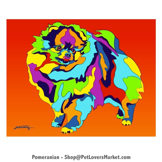 Pomeranian Painting. Pomeranian Art by Michael Vistia.
