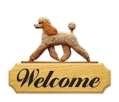 Welcome Sign: Poodle