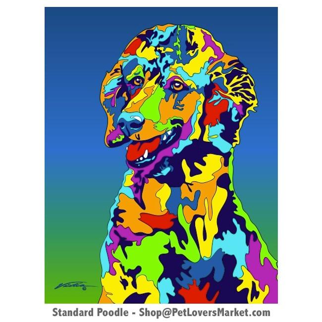 Poodle Painting. Poodle art by Michael Vistia.