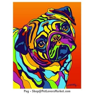 Pug Painting. Pug art by Michael Vistia.