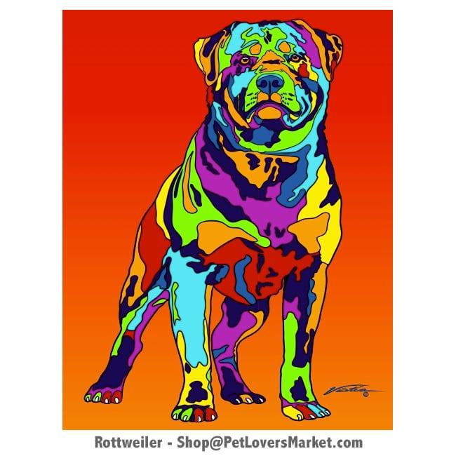 Rottweiler Art. Rottweiler painting by Michael Vistia.