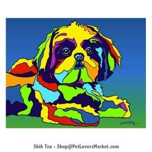 Shih Tzu art. Shih Tzu painting by Michael Vistia.