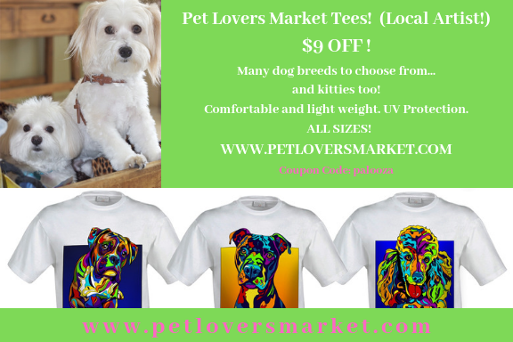 Michael Vistia T-shirts, many dog breads to choose from. Kitties too!