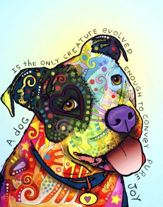 Art Russo / PitBull Art: A Dog is the Only Creature Evolved Enough to Convey Pure Joy