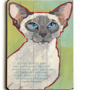 Cat Print / Cat Painting: Cats Are Alert, Gentle, Discriminating Friends... Wooden Sign. Cat Art. Cat Decor. Gifts for Cat Lovers.