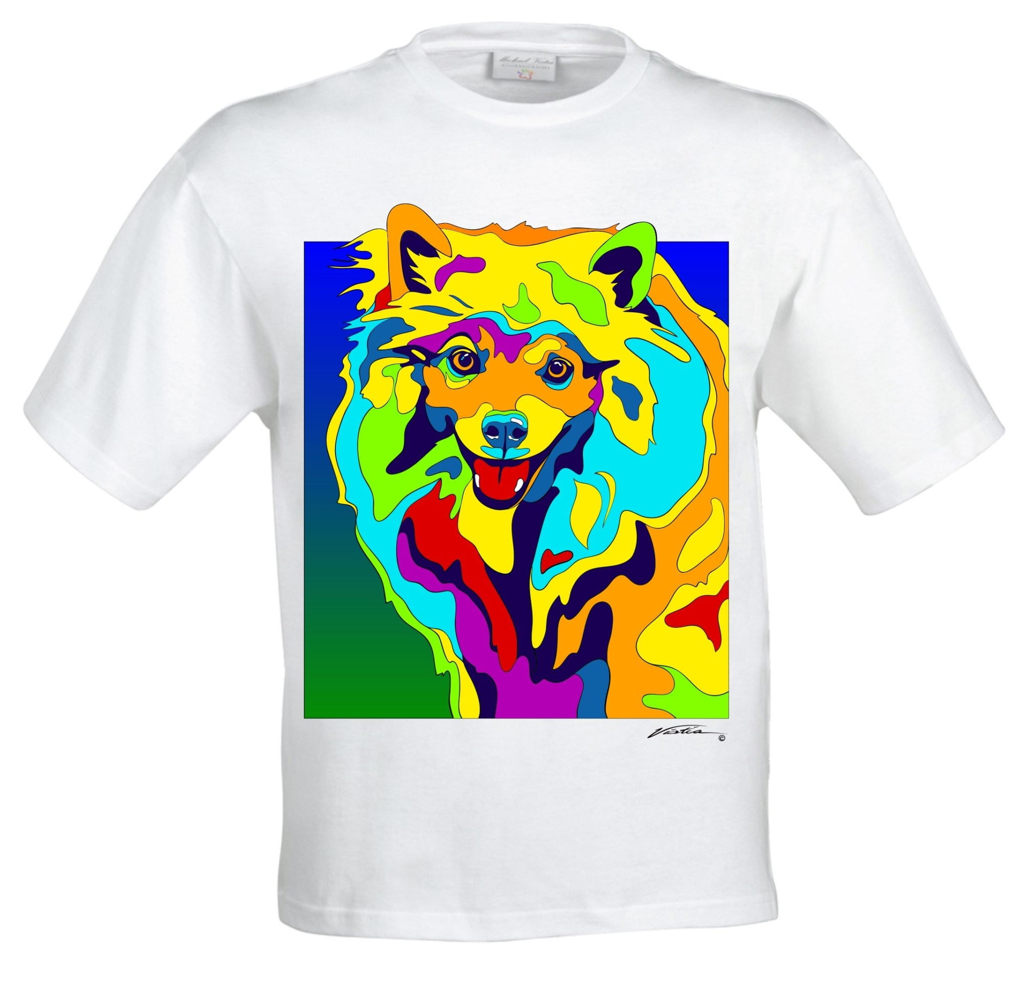 American Eskimo dog - Dog Pictures, Dog Print, Dog Art. Wall Art and Wooden Signs with Dog Pictures and Dog Quotes. Features the American Eskimo dog breed.