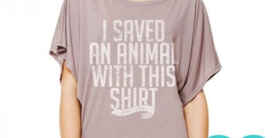 "Animal Rescue T-Shirts - ""I saved an animal with this shirt"""