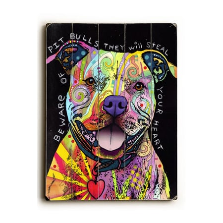 Dog Art with Dog Quotes (Pitbull Art)
