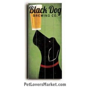 Black Dog Brewing Co: Vintage Beer Ads with Vintage Dogs. Vintage sign, vintage art, vintage ads, dog art.