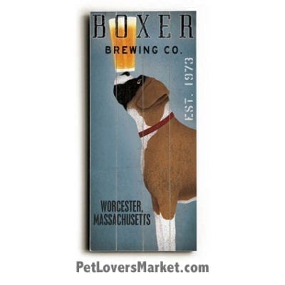 Boxer Brewing Co: Vintage Beer Ads with Vintage Dogs (Vintage Boxer Dog).
