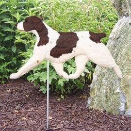 Brittany Spaniel Statue (Liver): Dog Statues and Garden Statues