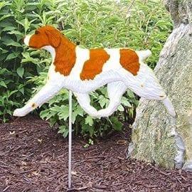 Brittany Spaniel Statue (Orange): Dog Statues and Garden Statues