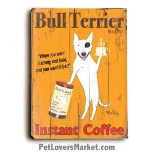 Vintage Ads / Vintage Art: Bull Terrier Instant Coffee
