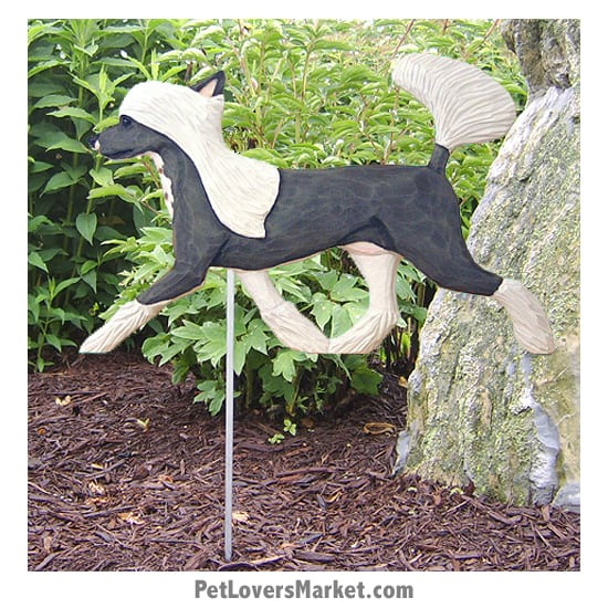 Chinese Crested Dog Sign / Yard Sign / Garden Stake. Garden Accents and Gifts for Dog Lovers. Perfect for Home and Garden Decor. Part of our collection of yard signs and garden accents -- with dog breeds. Also use for outdoor accents, unique garden statues, garden statues online, best garden decor, garden stake decor, decorative garden stake, outdoor home accents, unique garden decor, outdoor home decor. Features Chinese Crested dog breed.