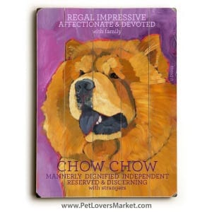 Dog Painting: Chow Chow Pictures. Dog print, dog art, wooden sign featuring Chow Chow dog breed.