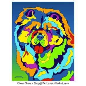 Chow Chow Pictures. Dog portrait and dog painting by Michael Vistia. Canvas Prints and Matted Prints available. Dog Art. Portrait of the Chow Chow dog breed.