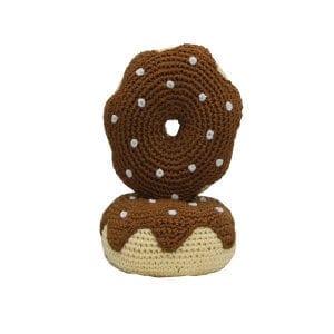 Crochet Dog Toys: Chocolate Donut, Organic, Dog Teeth Cleaning