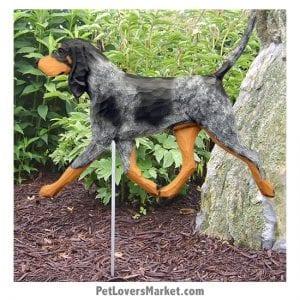 Coonhound Statue (Bluetick): Dog Statues, Garden Statues, Coonhound Gifts
