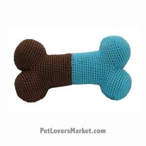 Dog Bone (Blue): Crochet Dog Toys, Organic Dog Toys, Dog Teeth Cleaning, Organic Cotton, Dog Toys, Cool Dog Toys, Hip Doggie