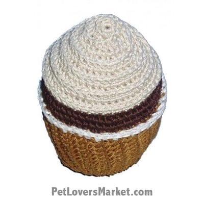Vanilla Swirl Cupcake: Crochet Dog Toys, Organic Dog Toys, Dog Teeth Cleaning, Organic Cotton, Dog Toys, Cool Dog Toys, Hip Doggie, Dental Toys.