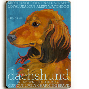 Dog Painting: Dachshund Pictures. Wooden Sign. Dog Sign. Dog Art. Dog Print.