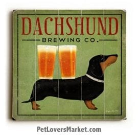 Dachshund Brewing Company: Vintage Beer Ads with Vintage Dogs.