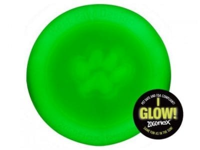 Dog Toy: Zisc Glow in the Dark Frisbee