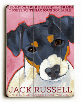 Jack Russell - Dog signs with Dog Breeds. Gifts for Dog Lovers. Wooden sign.