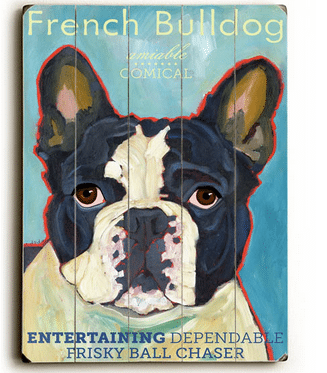 French Bulldog - Dog signs with Dog Breeds. Gifts for Dog Lovers. Wooden sign.