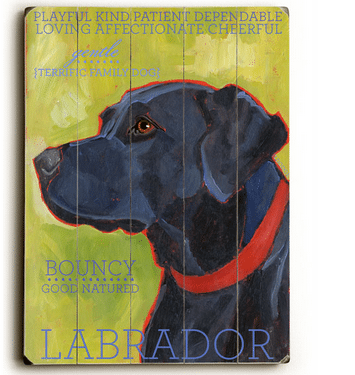 Labrador - Dog signs with Dog Breeds. Gifts for Dog Lovers. Wooden sign.