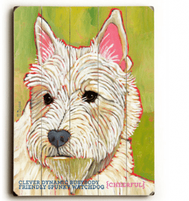 Westie - Dog signs with Dog Breeds. Gifts for Dog Lovers. Wooden sign.