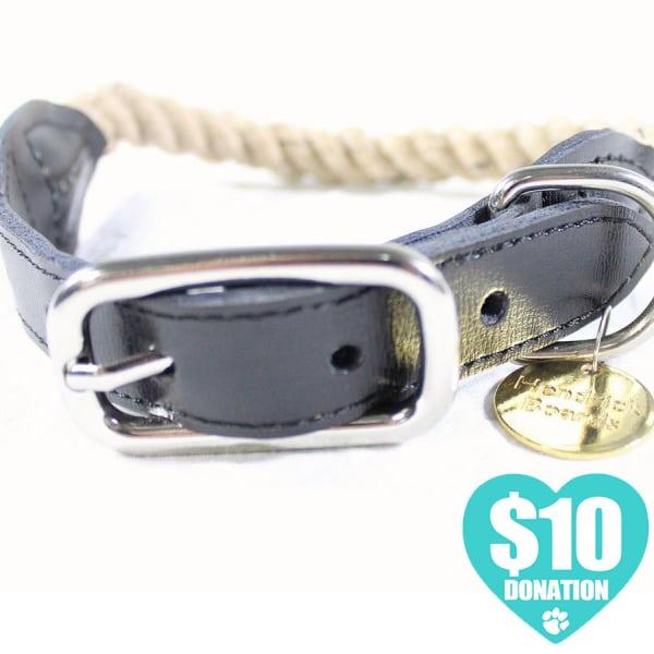 Dog Collar - Vintage 100% Cotton Rope Dog Collar