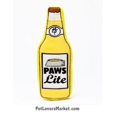 Dog Squeaky Toy: Paws Lite Beer PrideBites dog toy. Best dog toys.