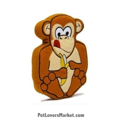 Dog Squeaky Toy: Marvin the Monkey PrideBite dog toy.