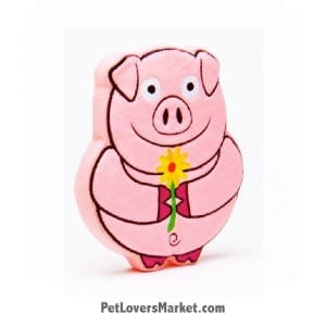 Dog Squeaky Toy: Muddles the Pig PrideBites dog toy.