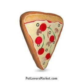 Dog Squeaky Toy: Pizza Slice PrideBites dog toy.