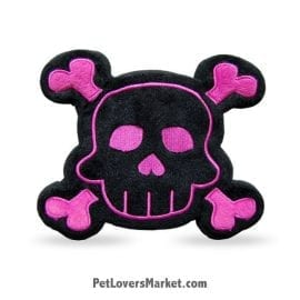 Dog Squeaky Toy: SKull & Bone PrideBites dog toy.